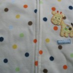 Dotty giraffe up close